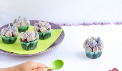 Cupcakes violets