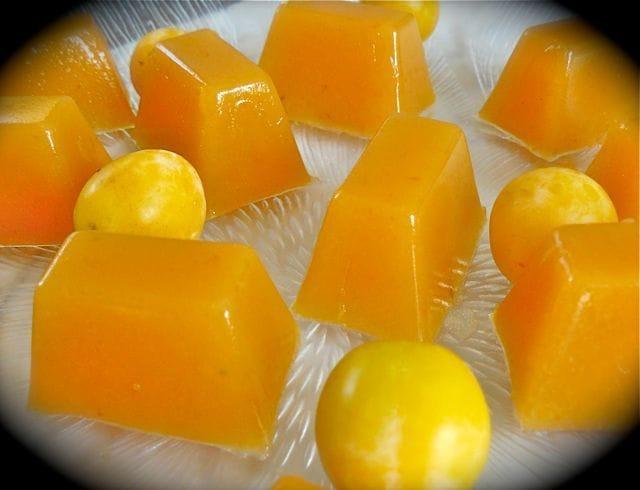 p tes de fruits aux mirabelles l 39 agar agar chaudron pastel de m ly. Black Bedroom Furniture Sets. Home Design Ideas
