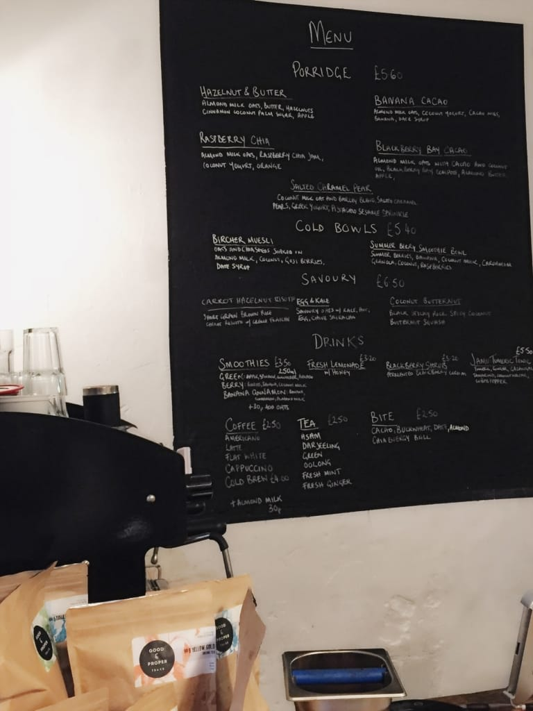 26 grains london menu