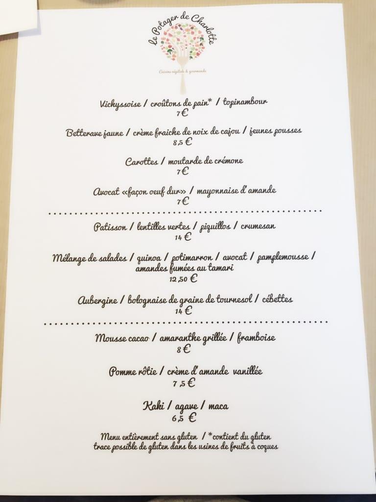 potager de charlotte menu