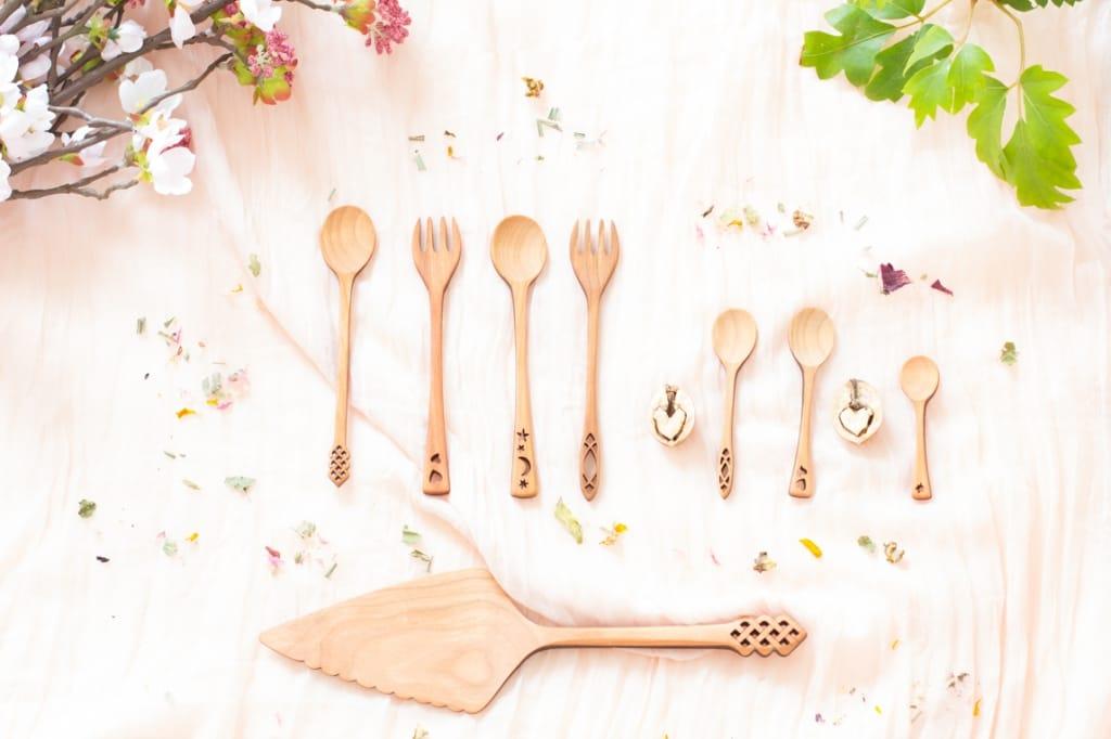 Vaisselle bois-couverts moonspoon