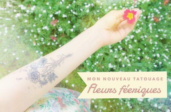 Mon Nouveau Tatouage Fleurs Feeriques Desolee Papa